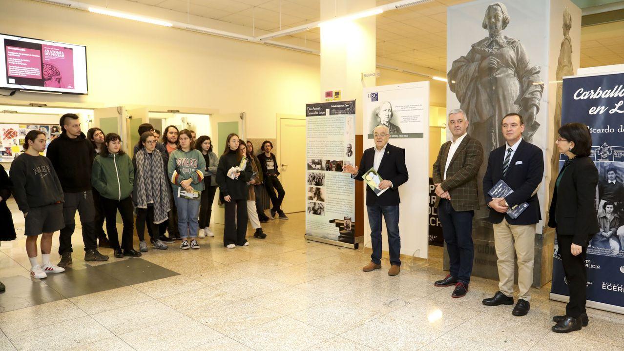 Víctor Freixanes, presidente de la RAG, visitará hoy el Cruceiro de Canido