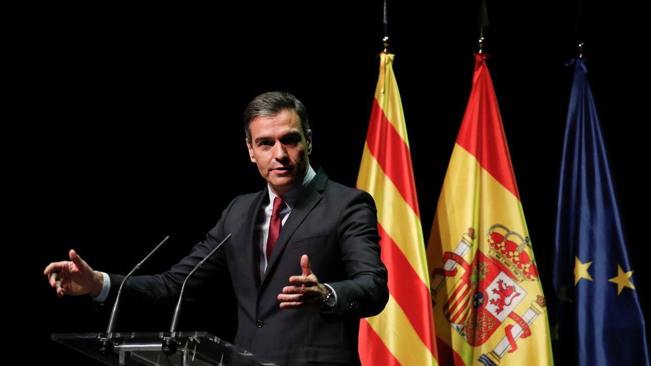 En directo: Declaración institucional de Pedro Sánchez tras la aprobación de los indultos a los presos del«procés».Pedro Sánchez durante la conferencia ofrecida en el Liceo de Barcelona