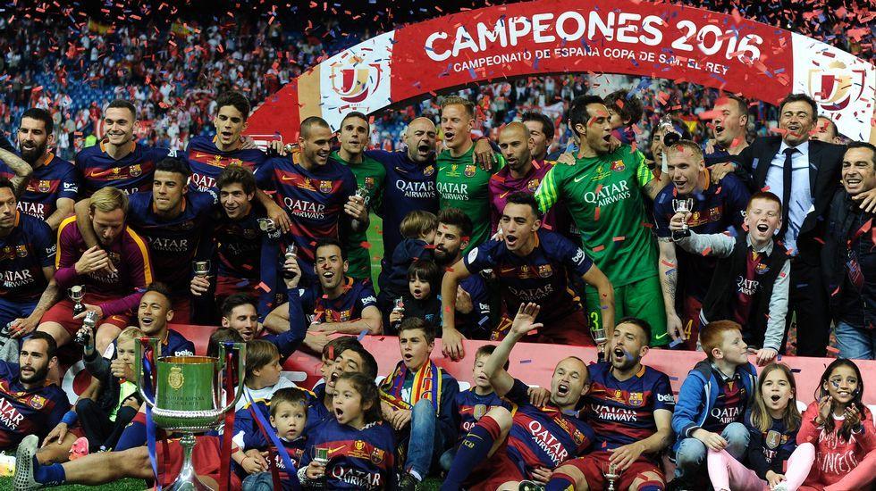 Las imágenes más espectaculares de la final de la Copa del Rey entre Sevilla y Barcelona