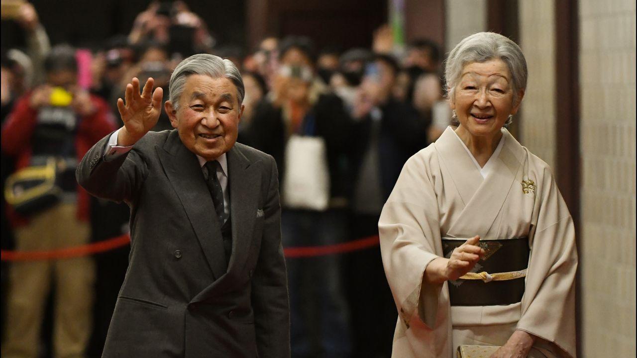 El emperador Akihito y la emperatriz Michiko, en un acto el pasado enero