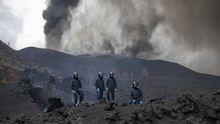 La lava del volcánllegaal centrode Todoque