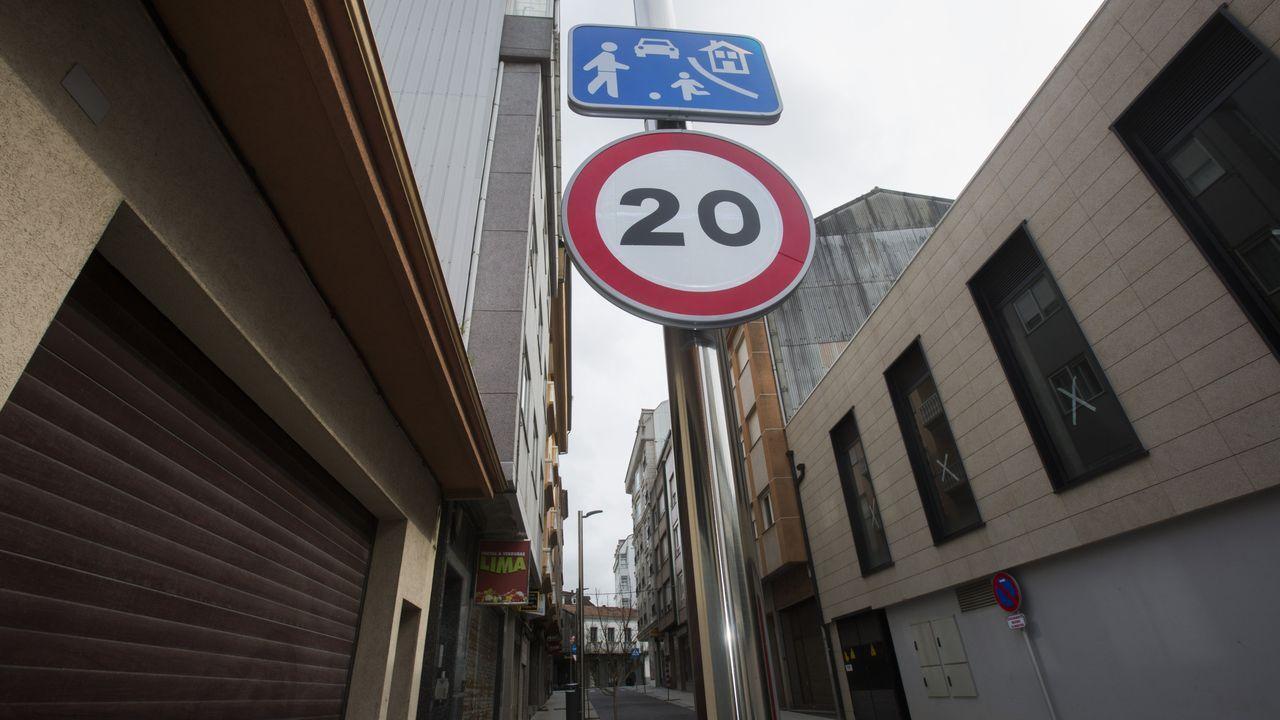 Una de la zona de la ORA en Gijón.Presentación de la séptima edición de «30 Días en Bici»