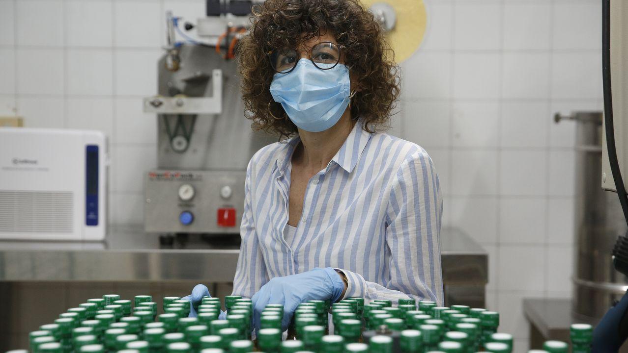 Playasen la provincia deA Coruña.Élida Rodríguez, gerente de salsas O Preve