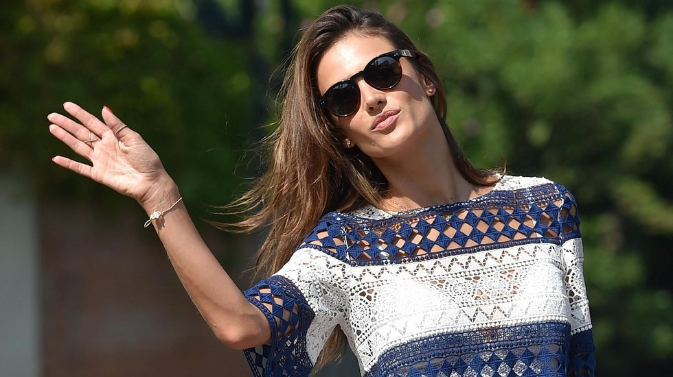 La modelo brasileña Alessandra Ambrosio.