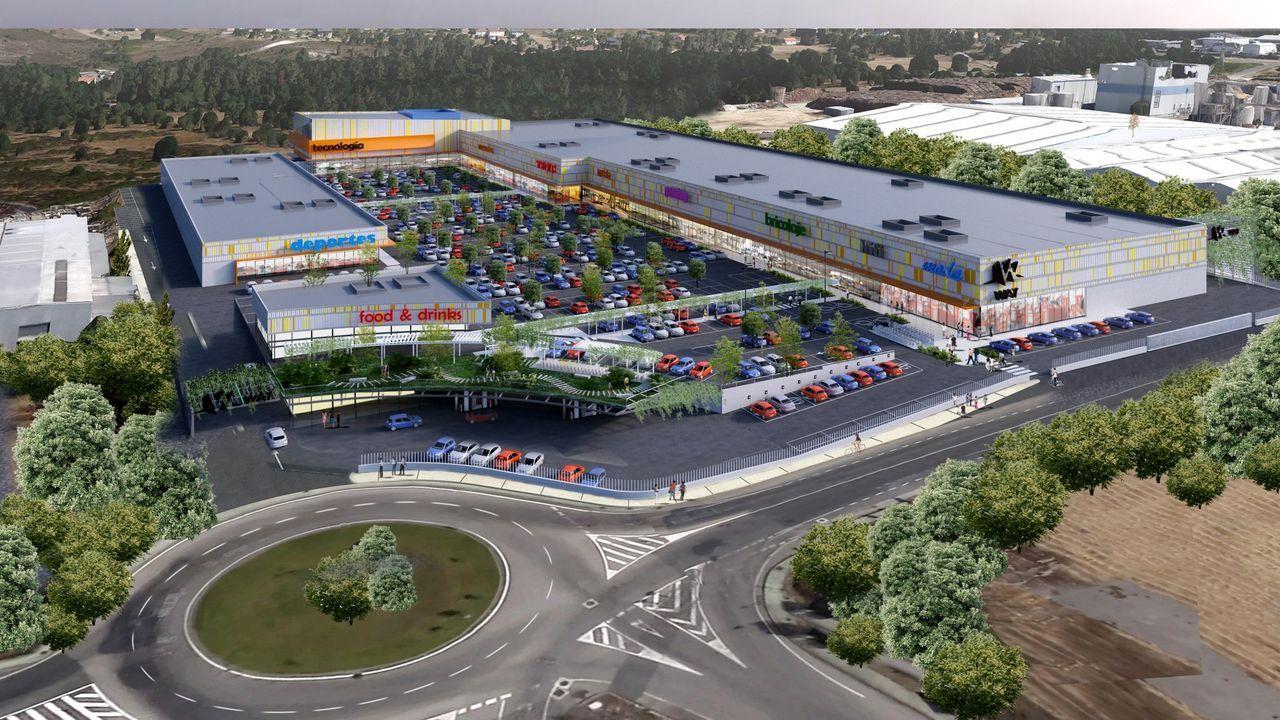 Así volvió Ourense al cole.Recreación virtual del futuro centro comercial