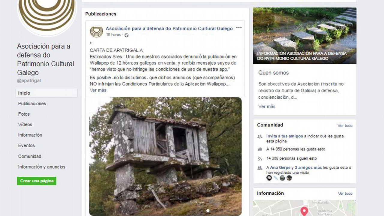 Captura de la página de Facebook de la Asociación para a Defensa do Patrimonio Galego