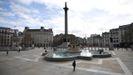 La plaza de Trafalgar, en Londres, casi vacía por la alarma sobre el coronavirus