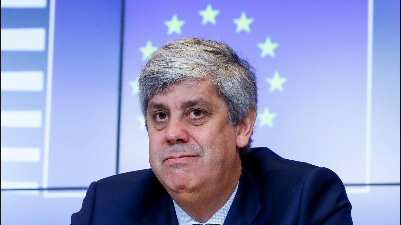 Las imágenes de la desmantelada red criminal dedicada a la prostitución.El presidente del Eurogrupo, Mario Centeno, durante una rueda de prensa hoy en Luxemburgo
