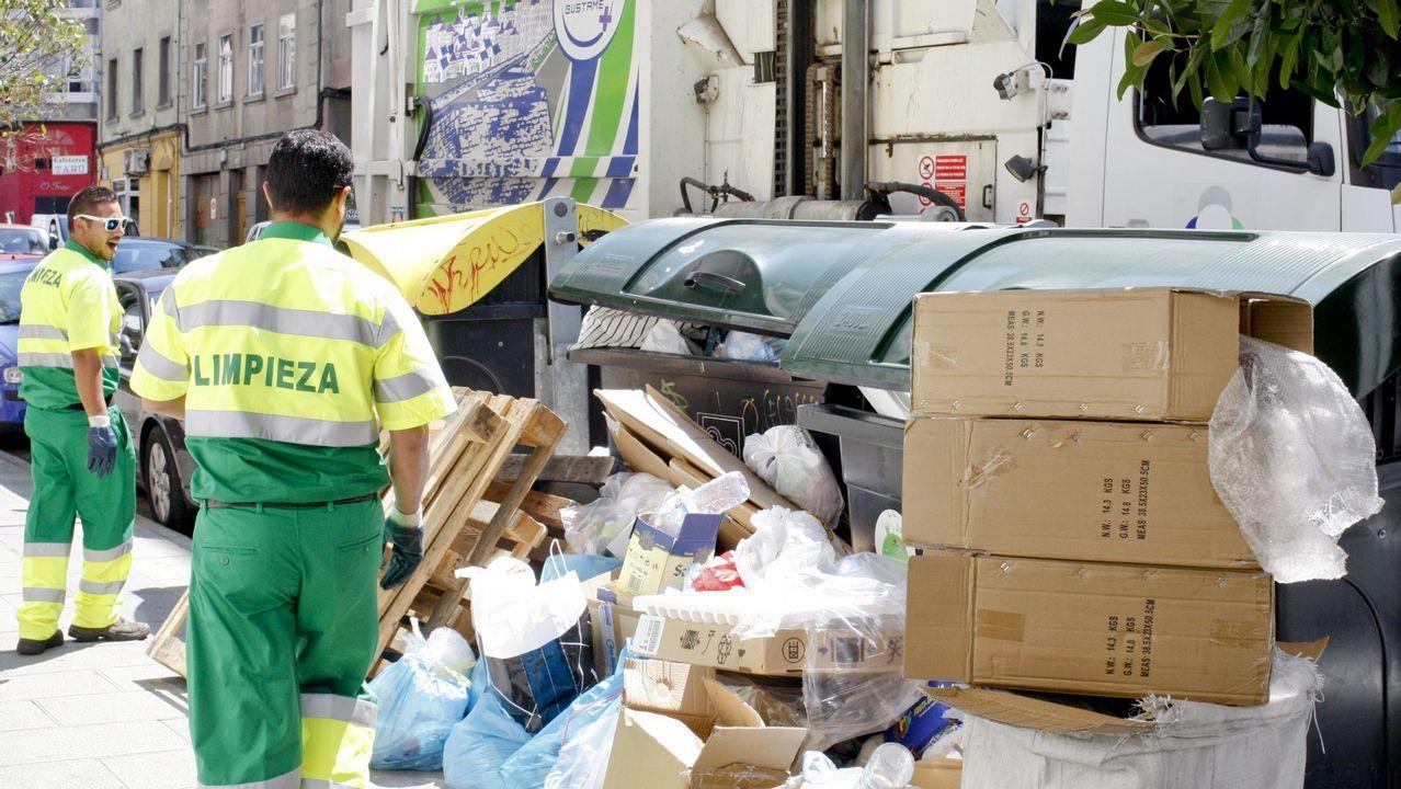 Problemas con la recogida de basura en Serra do Barbanza