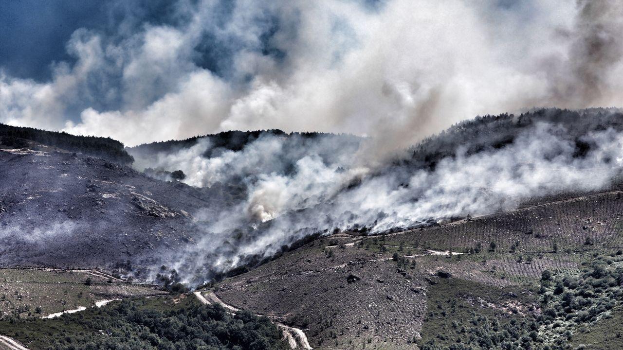 Incendio en Monterrei.El incendio en Monterrei es el más grande de Galicia en lo que va de verano