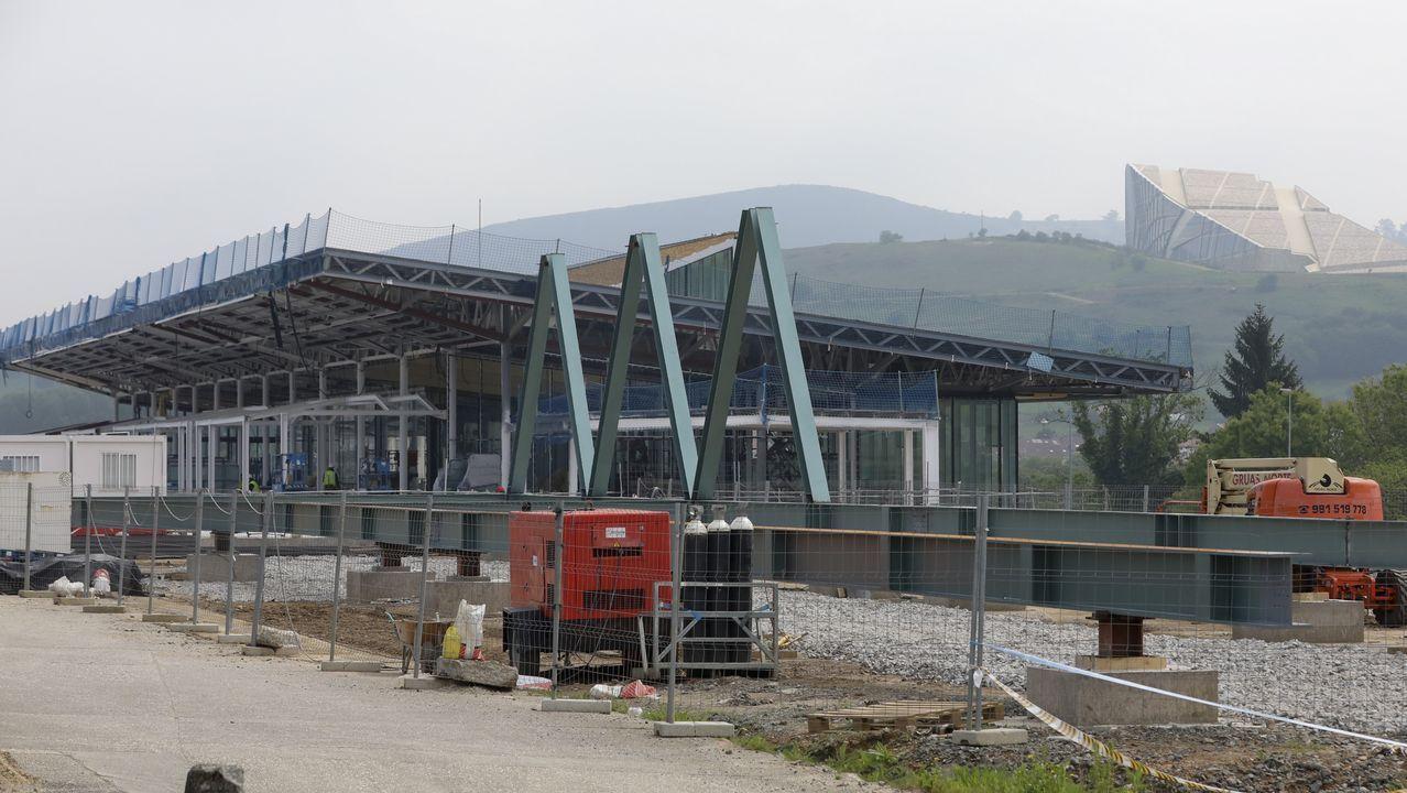 Obras en la estación intermodal de Santiago