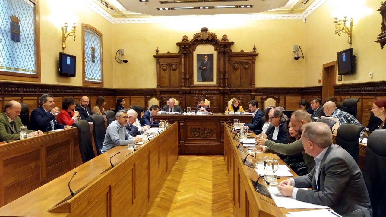 Imagen de archivo del Pleno de la corporación municipal de Gijón