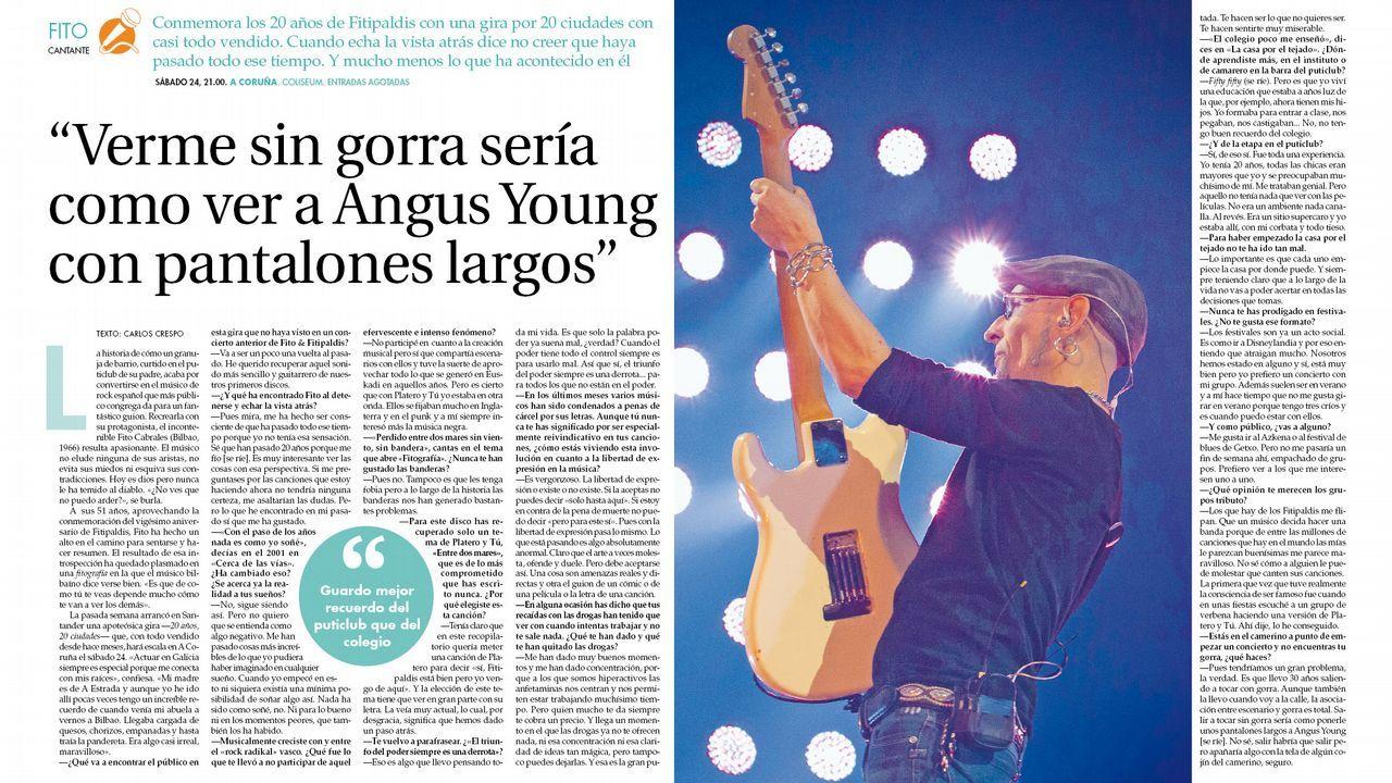 Paula Prendes muestra a sus «pinchinos».Fito presenta en Fugas su próximo concierto en A Coruña