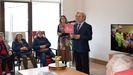 El presidente de la Diputacion, José Tomé, en una visita a la residencia de A Fonsagrada