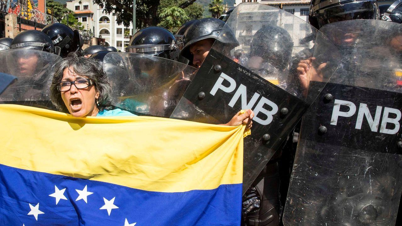 Este es el polémico vídeo de la patronal.Protesta contra el Gobierno de Nicolás Maduro convocada por la oposición