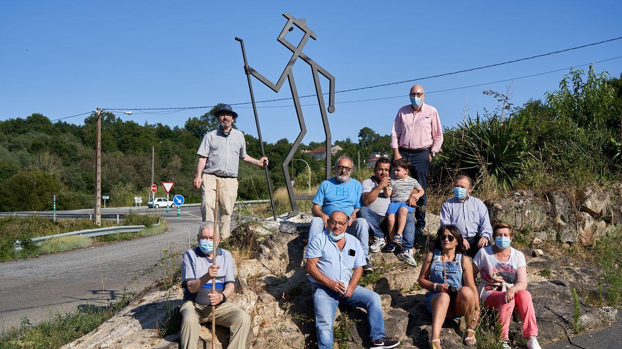 La escultura instalada en Bentraces