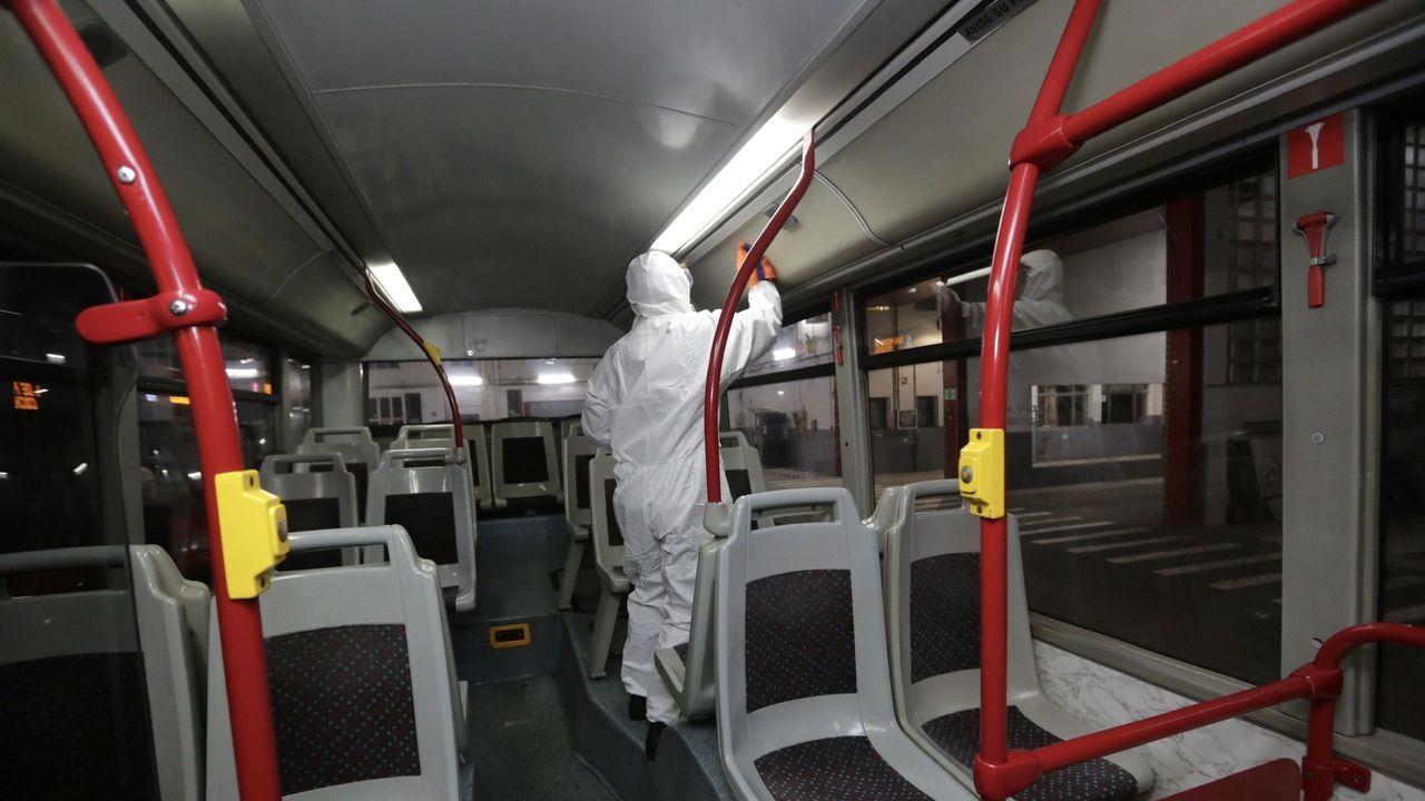 Desinfección en Tranvías