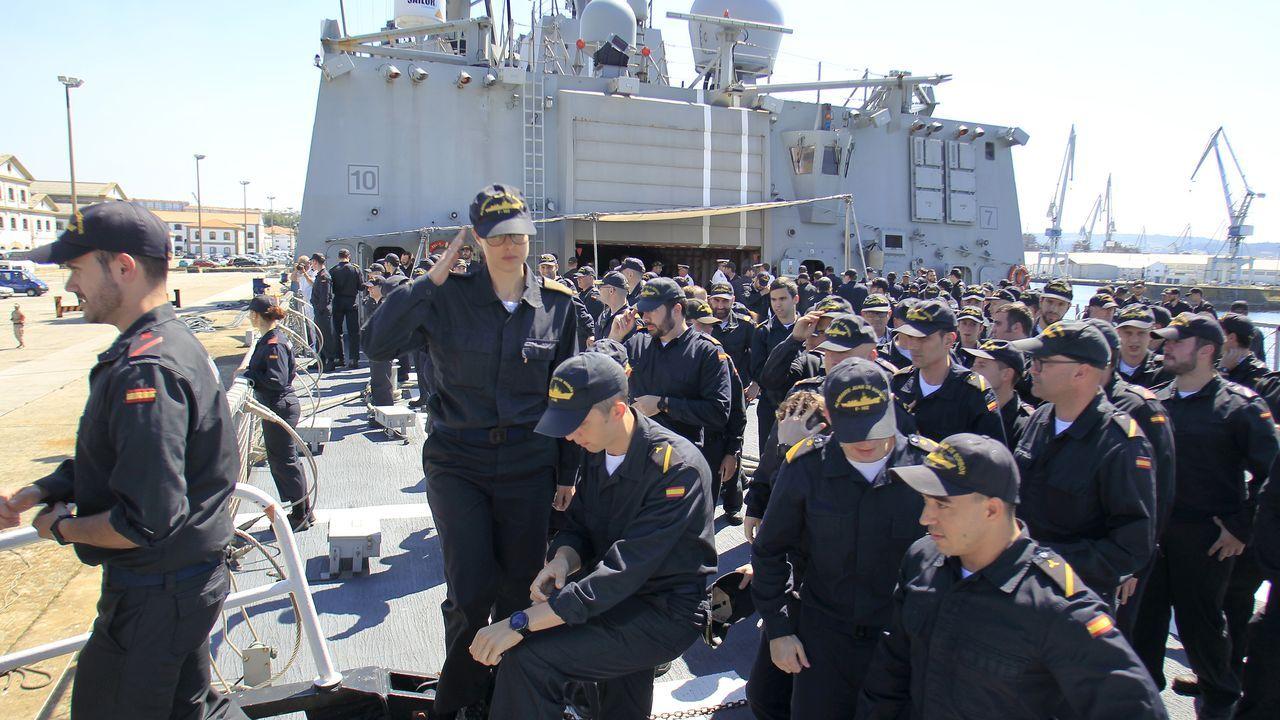 Tres meses con la OTAN: la F-102 vuelve a Ferrol.Toma de muestras esta mañana en A Malata