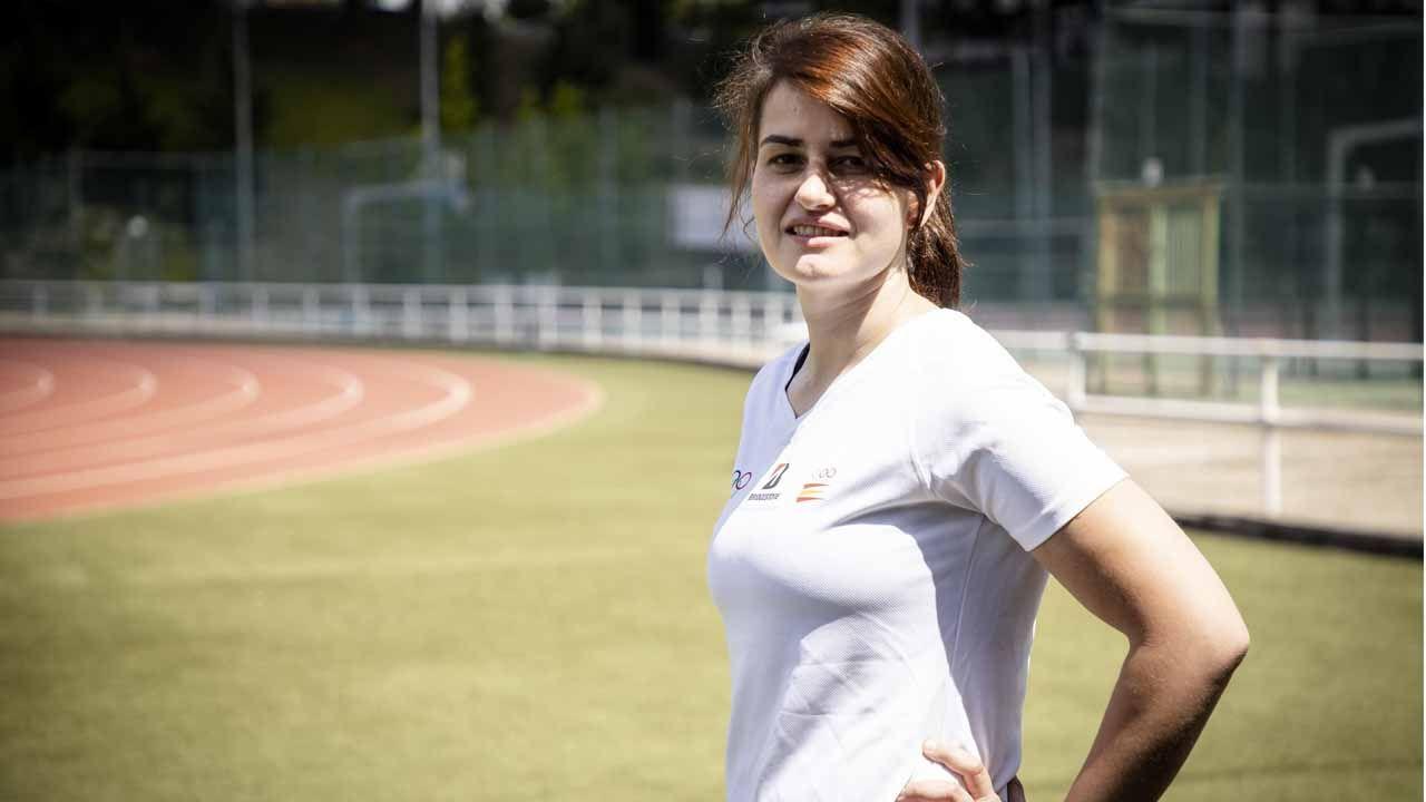 Eva María, la asturiana que participa en la iniciativa «Héroes del día a día»