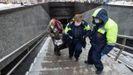 Foto de una entrada al metro de Moscú, el pasado febrero