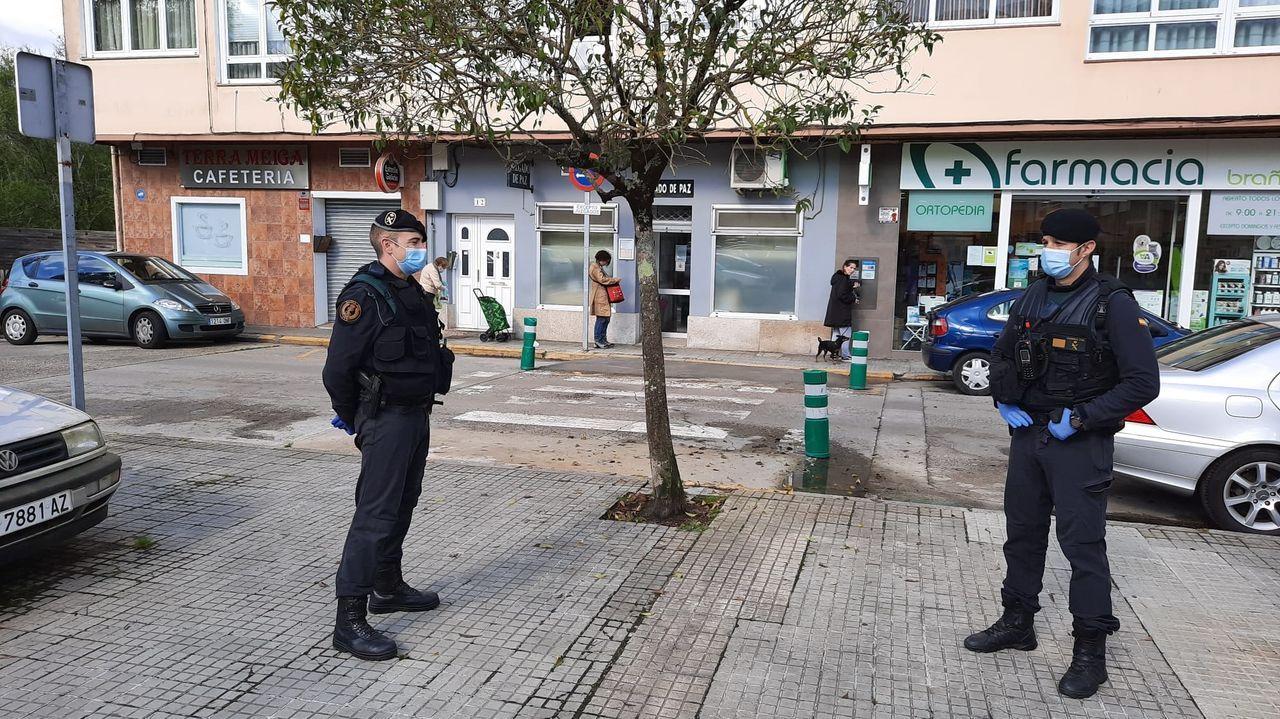 LosGRS de la Guardia Civil, desplegados en Sada