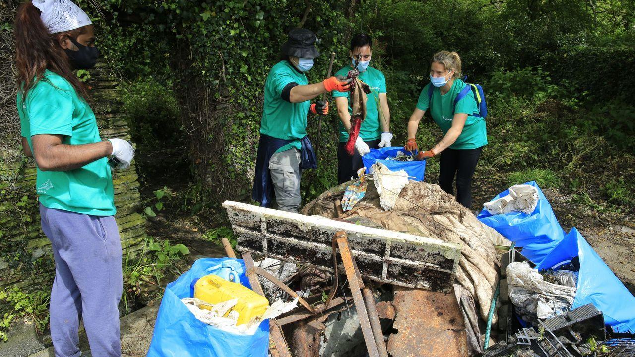 La jornada de limpieza de Coidemos Lugo, en imágenes.Las obras de instalación de la pasarela concluyeron este lunes, ahora falta la iluminación y la humanización