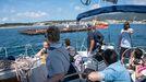 Imagen de archivo de un viaje en el velero Mascato organizado por el Concello pobrense