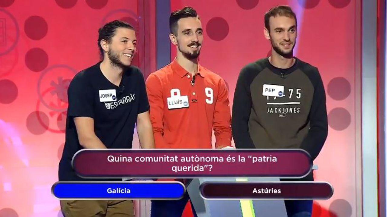 Josep, Lluis y Pep, concursantes de Jo en sé més que tu, de IB3