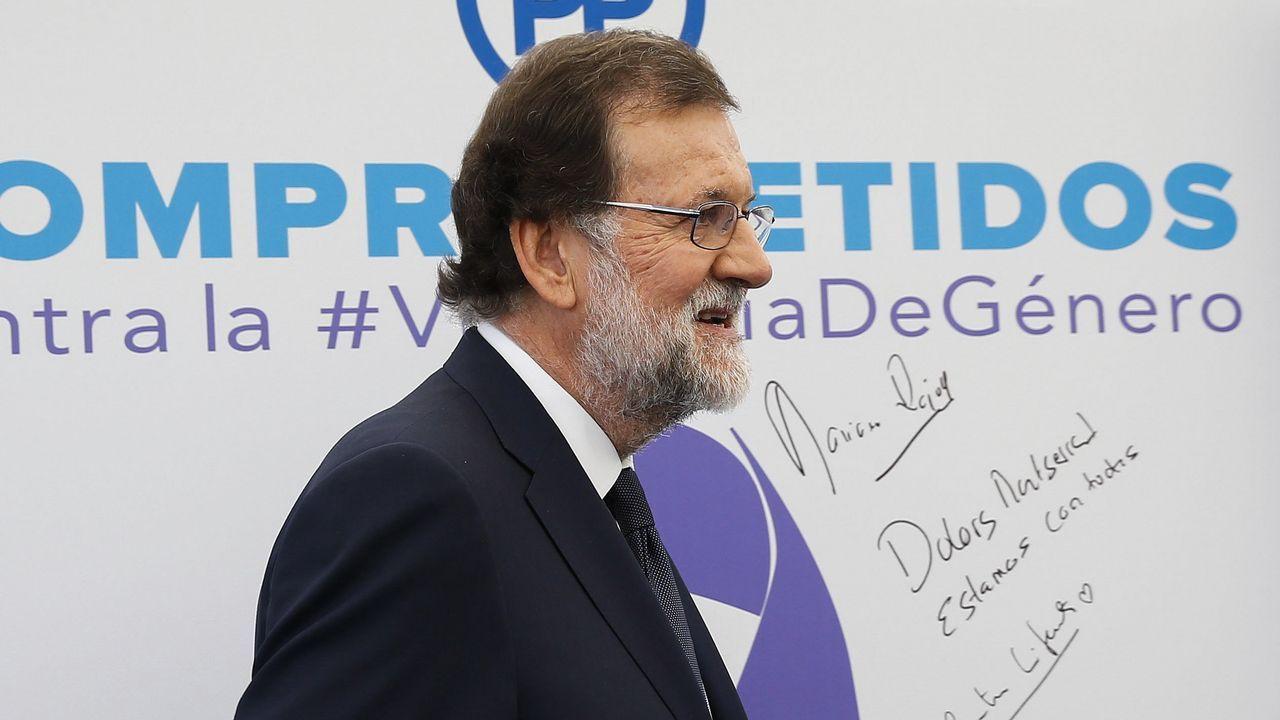 Los momentos destacados de la declaración de Rajoy.ISAAC PEDROUZO EN EL TORGAL DE OURNSE