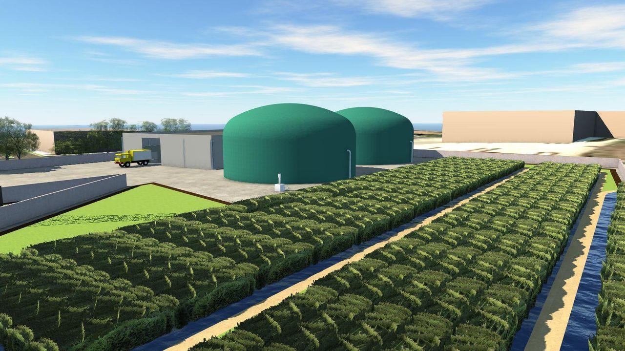 Infografía del proyecto de planta de gas de Lence, el proyecto Riazor