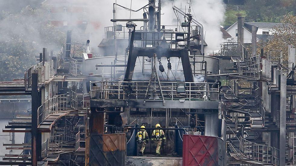 Incendio en los astilleros de Placeres