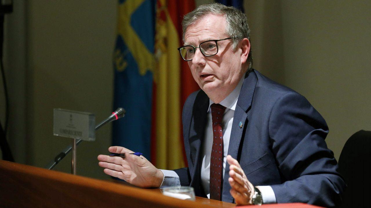 El consejero de Sanidad de Asturias, Francisco del Busto,