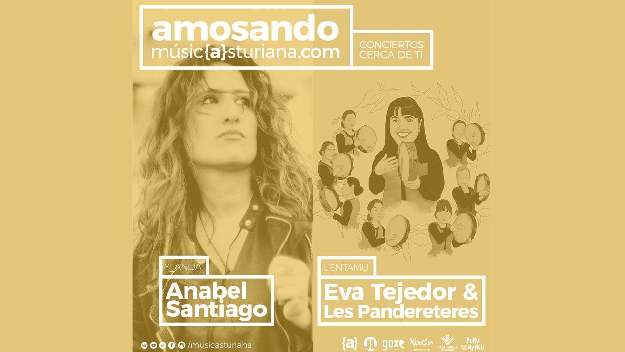 Conciertos Amosando, Anabel Santiago, Eva Tejedor