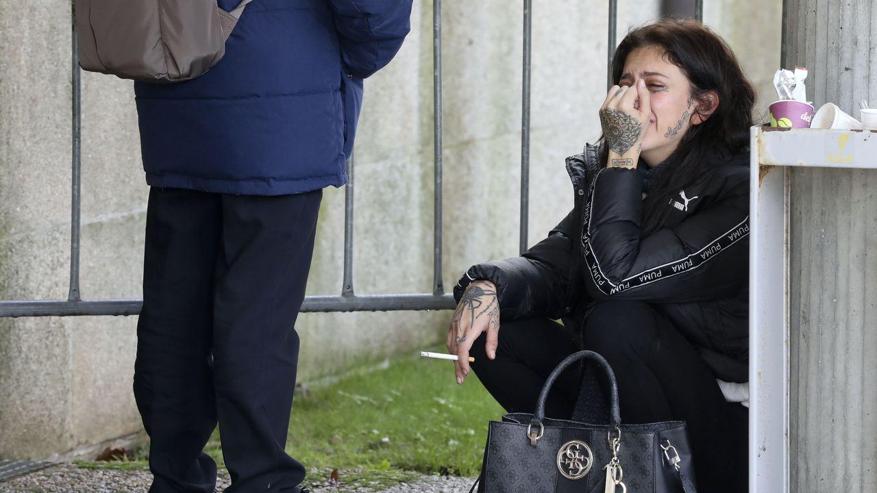 La hermana de Diana Quer, muy afectada a las puertas de los juzgados