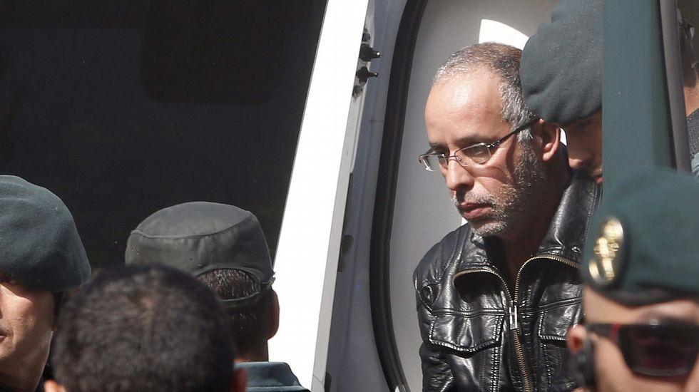 Espectacular despliegue policial en el traslado del presunto asesino de Eva Blanco