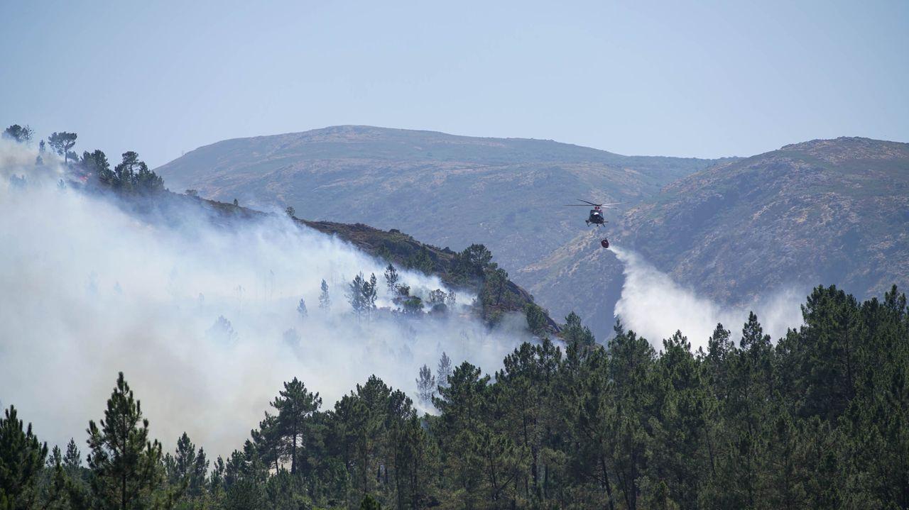 Museos para viajar al pasado en Ourense.Imagen de archivo de un incendio en la Serra do Xurés