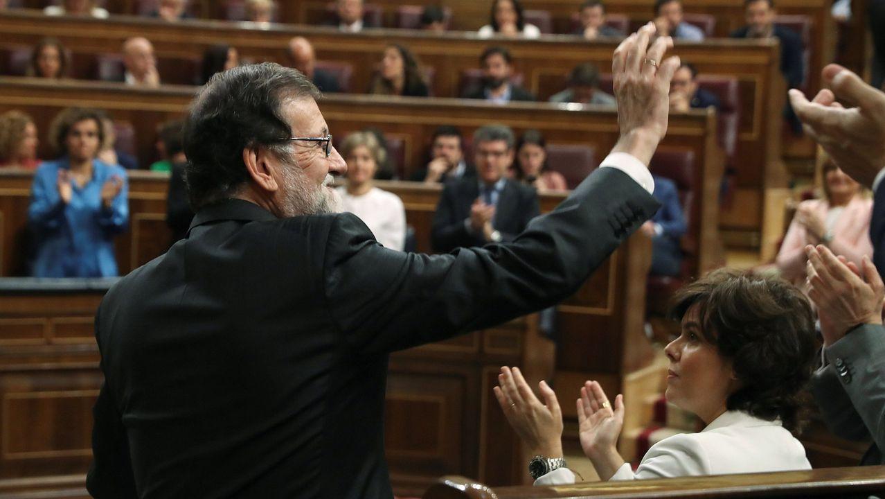 Rajoy, tras su discurso en el Congreso durante la moción de censura de los días 31 de mayo y 1 de junio del 2018