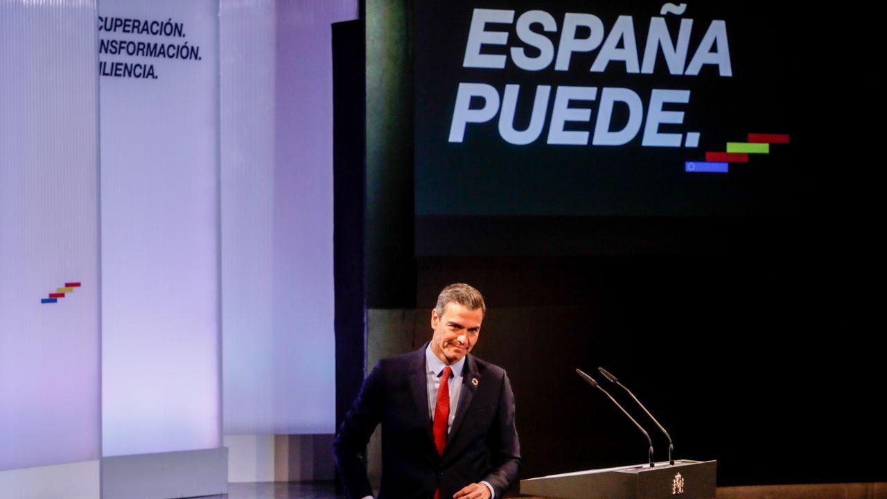 Pedro Sánchez, este lunes durante la conferencia que pronunció en la Casa de América, en Madrid