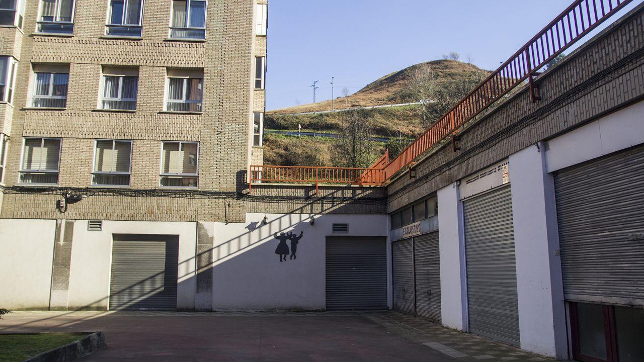 mas.Una pared en el barrio de Masustegi, en Bilbao