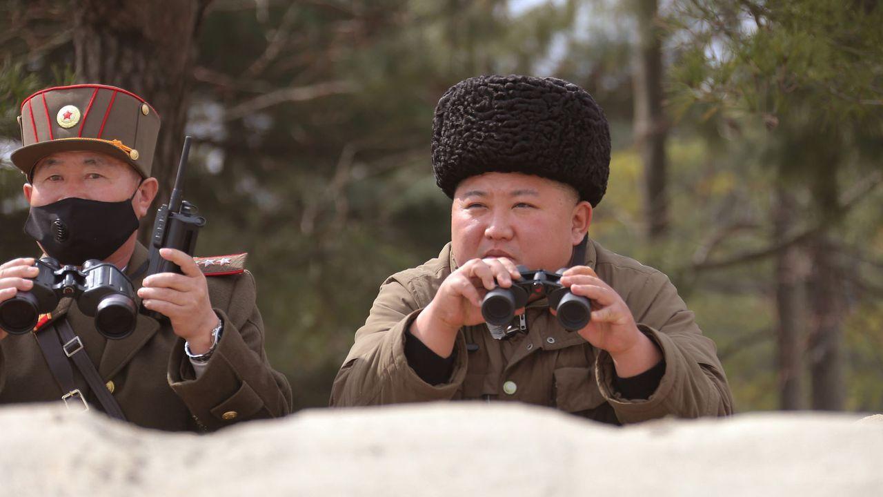 Kim Jong-un, en el congreso del partido norcoreano.Kim Jong Un vigila la frontera con Corea del Sur