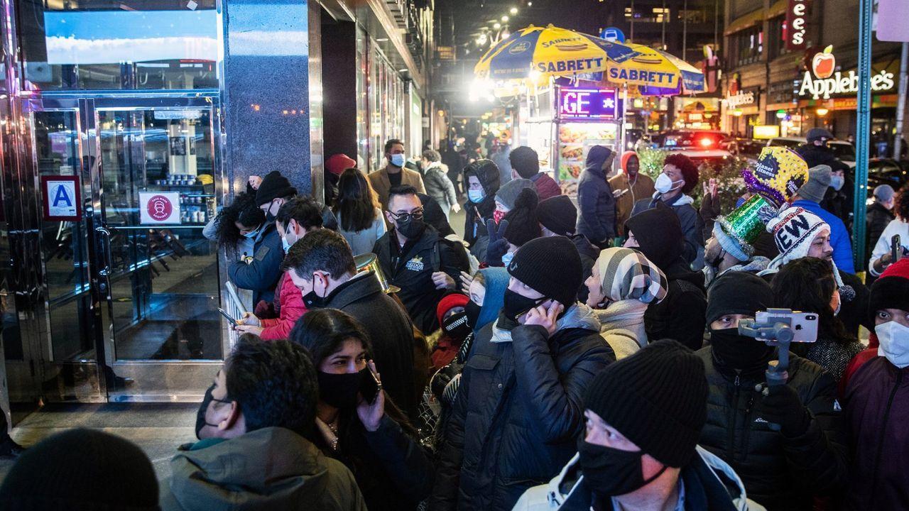 Inmediaciones de Times Square, en Nueva York, estas navidades