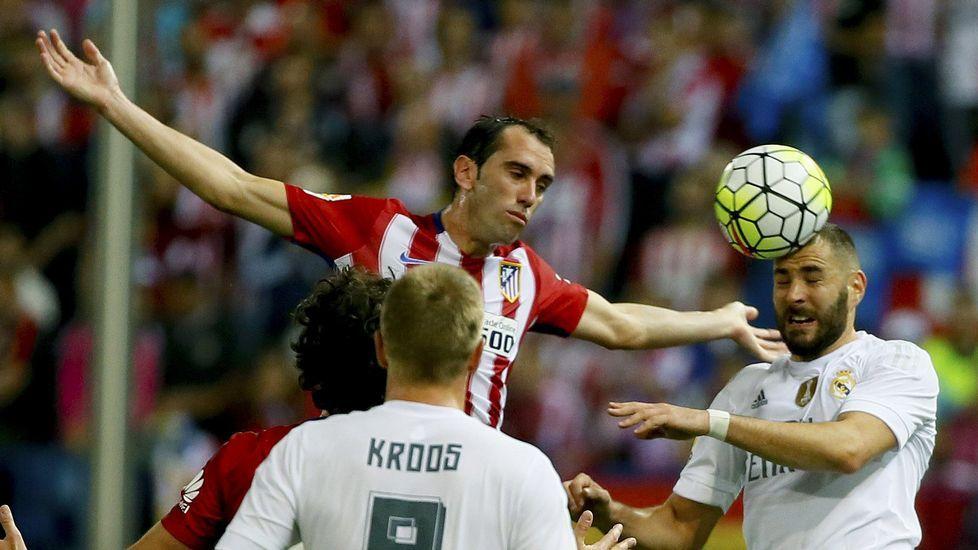 El Atlético-Real Madrid, en fotos