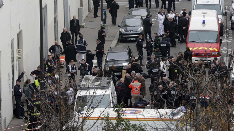 Imagen de arhivo de los atentados en «Charlie Hebdo».
