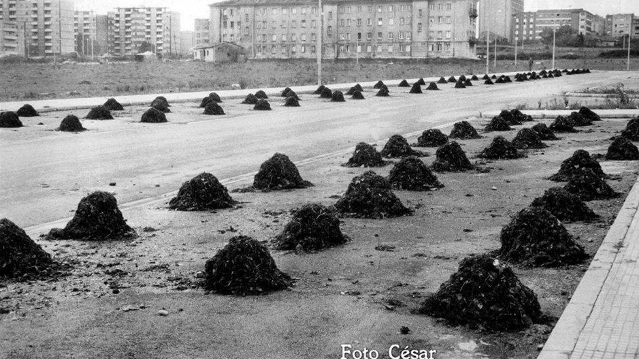 Ocle acumulado en la calle Puerto de Leitariegos