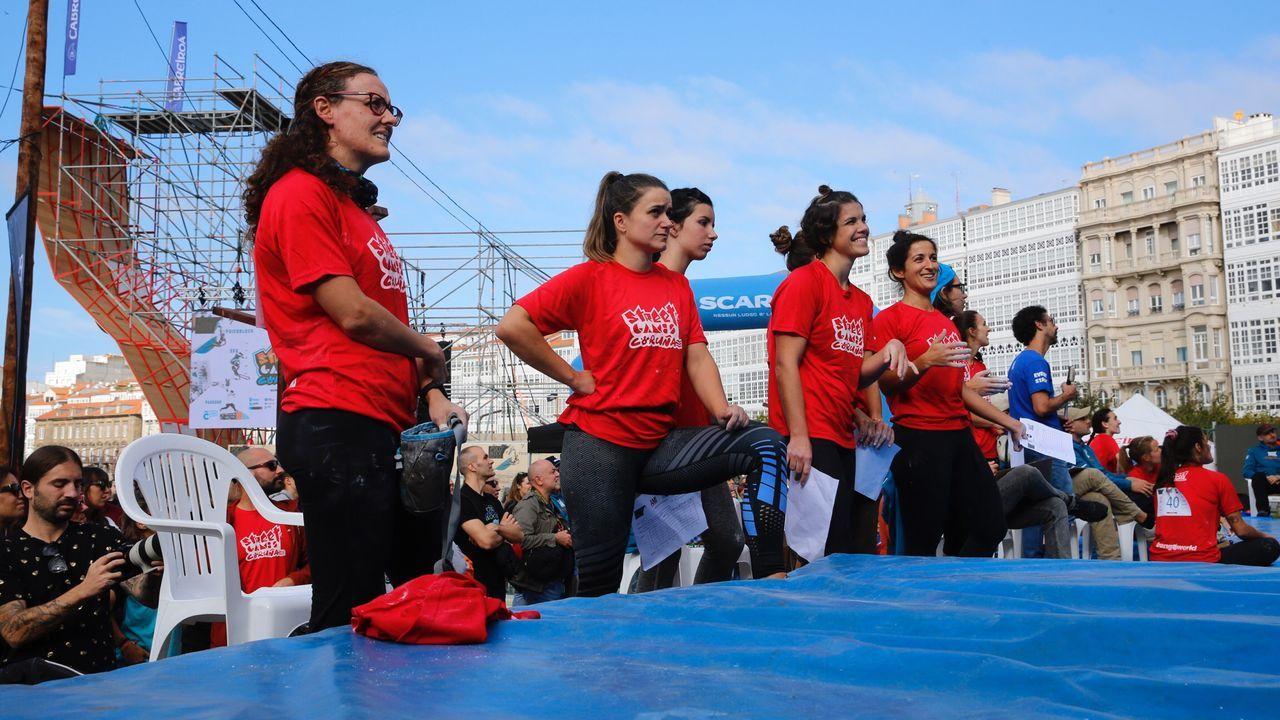 aire.Santiago de Compostela también mostró su apoyo a las madres de Verín