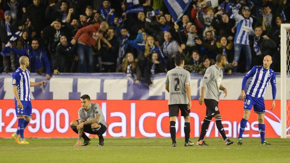 El Alavés-Deportivo de Copa, en fotos