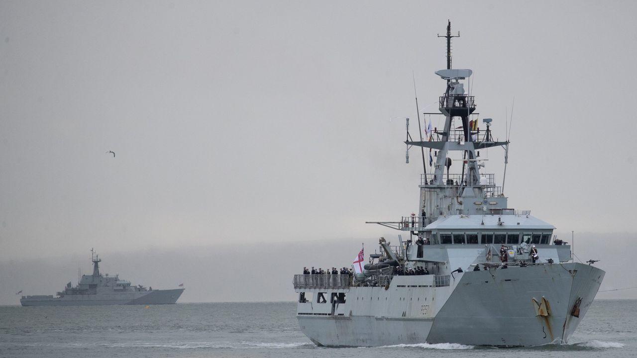 Buques de la Royal Navy, en una imagen de archivo