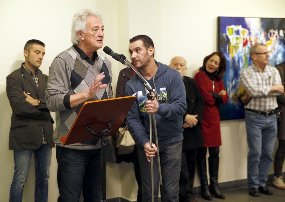 Emilio Gómez, Alfonso Costa y José Blanco presentaron la exposición