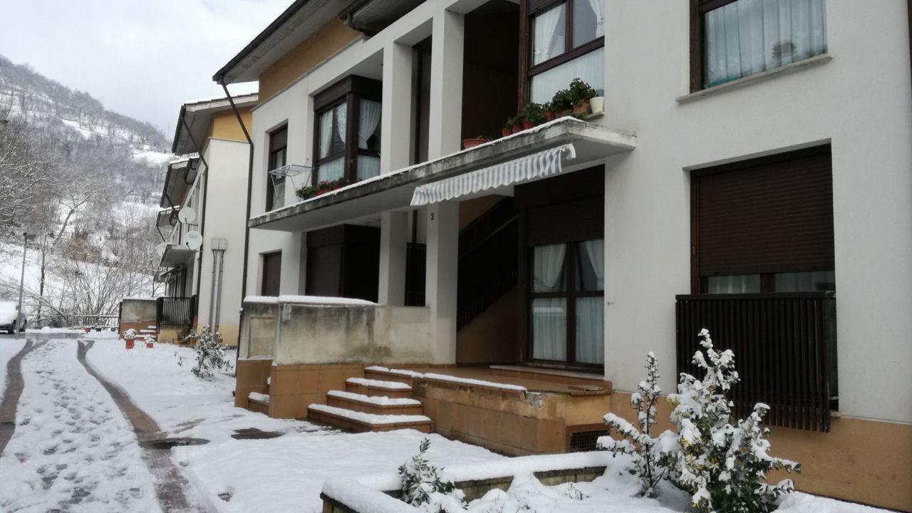 La casa donde sucedió el asesinato en El Condao (Laviana)