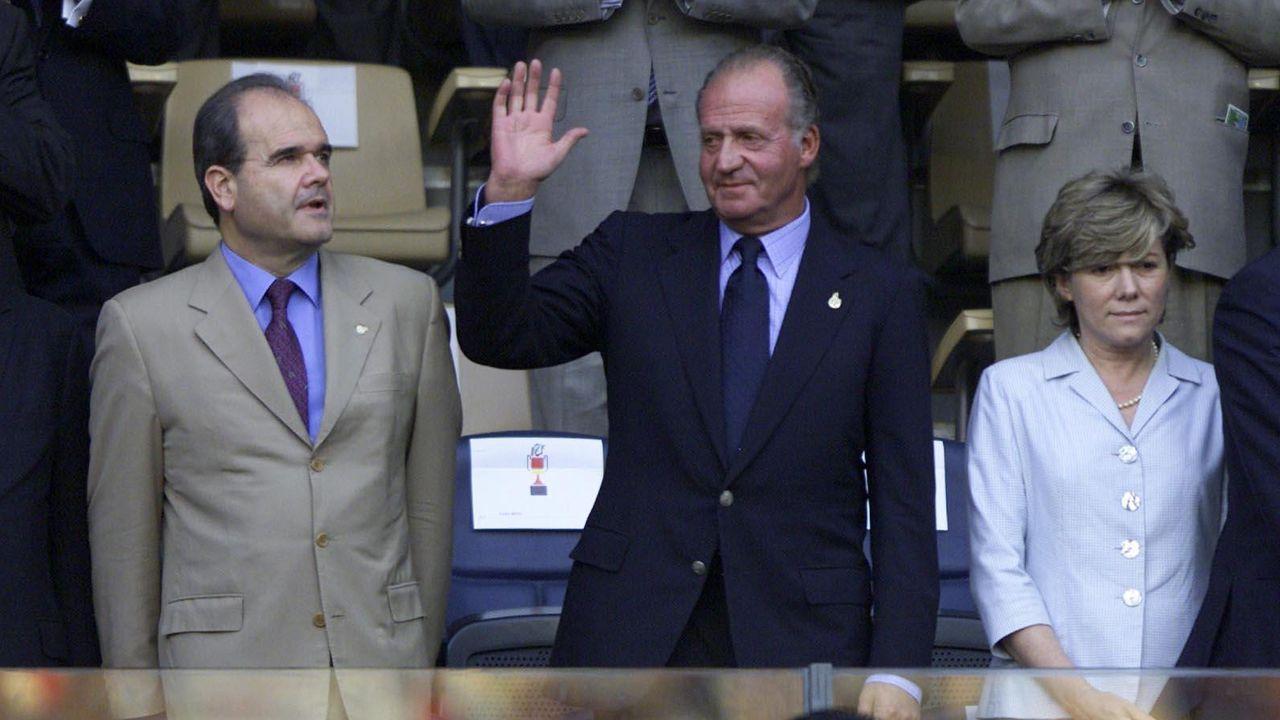 En Balaídos, en la final de la Copa del Rey del 2001